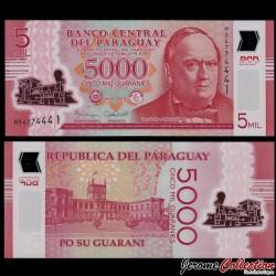 PARAGUAY - Billet de 5000 - Don Carlos Antonio López - Polymer - 2016 P234b