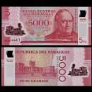PARAGUAY - Billet de 5000 - Don Carlos Antonio López - Polymer - 2016