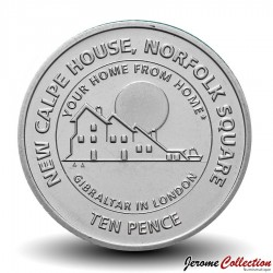 GIBRALTAR - PIECE de 10 Pence - New Calpe House - 2018 Km#NEW