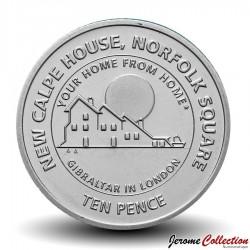 GIBRALTAR - PIECE de 10 Pence - New Calpe House - 2018 Km#NEW