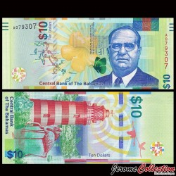 BAHAMAS - Billet de 10 Dollars - Phare de Hope Town - 2016