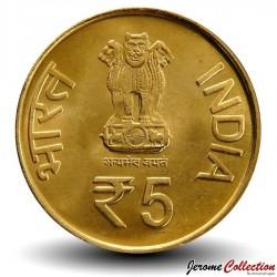 INDE - PIECE de 5 Roupies - 100 ans de la naissance de Acharya Tulsi - 2013