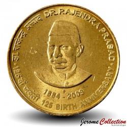 INDE - PIECE de 5 Roupies - Dr. Rajendra Prasad - 2009