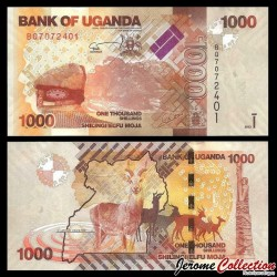 OUGANDA - Billet de 1000 Shillings / Shilingi - Antilopes - 2013