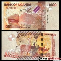 OUGANDA - Billet de 1000 Shillings / Shilingi - Antilopes - 2013 P49b