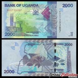 OUGANDA - Billet de 2000 Shillings / Shilingi - Poisson - 2015 P50c