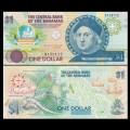 BAHAMAS - Billet de 1 DOLLAR - Christophe Collomb - 1992