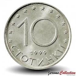 BULGARIE - PIECE de 10 Stotinki - Le cavalier de madara - 1999 Km#240