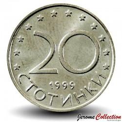 BULGARIE - PIECE de 20 Stotinki - Le cavalier de madara - 1999 Km#241