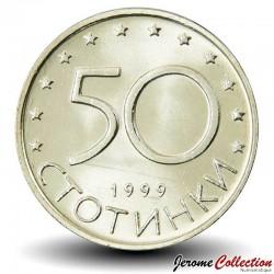 BULGARIE - PIECE de 50 Stotinki - Le cavalier de madara - 1999 Km#242