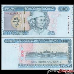 MYANMAR (ex-Birmanie) - Billet de 1000 Kyats - Général Aung San - 2019