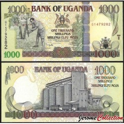 OUGANDA - Billet de 1000 Shillings - Silo à grains - 2009