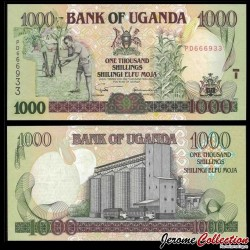 OUGANDA - Billet de 1000 Shillings - Silo à grains - 2003