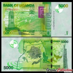 OUGANDA - Billet de 5000 Shillings - Mémorial de la Seconde Guerre mondiale - 2013