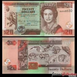 BELIZE - Billet de 20 Dollars - Animaux du Belize - 2017 P69f