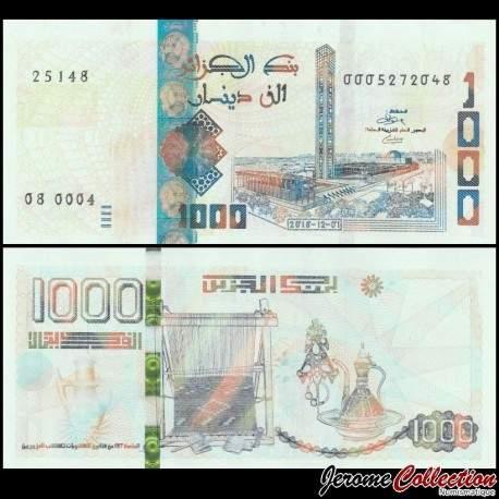 ALGERIE - Billet de 1000 Dinars - Grande mosquée d'Alger - 01.12.2018 P146a