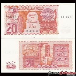 ALGERIE - Billet de 20 Dinars - Amphore - 1983