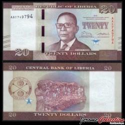 LIBERIA - Billet de 20 Dollars - 2016 P33a