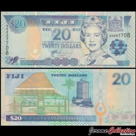 FIDJI - Billet de 20 DOLLARS - Maison du Parlement - 2002