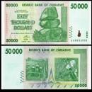ZIMBABWE - Billet de 50000 DOLLARS - 2008