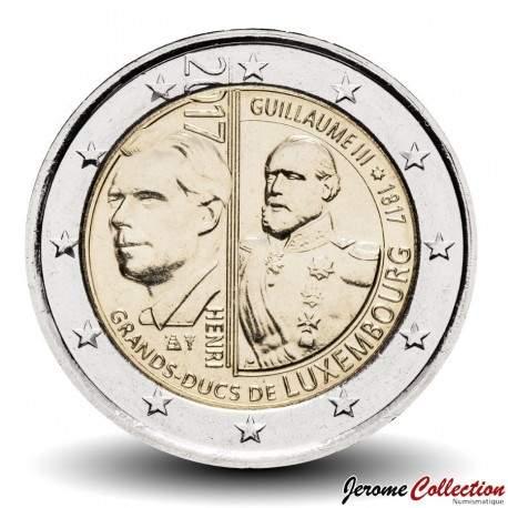 LUXEMBOURG - PIECE de 2 EURO - Guillaume III - 2017 Km#new