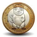 ILES COOK - PIECE de 1 Dollar - Tangaroa - 2010
