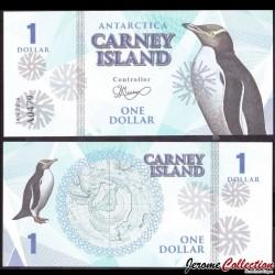 CARNEY ISLAND / ANTARCTIQUE - Billet de 1 DOLLAR - 2016 0001