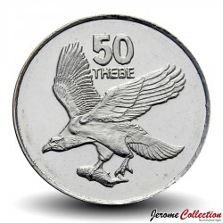 BOTSWANA - PIECE de 50 Thebe - Un Pygargue vocifer - 2001 Km#29