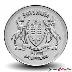 BOTSWANA - PIECE de 50 Thebe - Un Pygargue vocifer - 2001