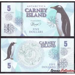 CARNEY ISLAND / ANTARCTIQUE - Billet de 5 DOLLARS - 2016