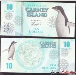 CARNEY ISLAND / ANTARCTIQUE - Billet de 10 DOLLARS - 2016