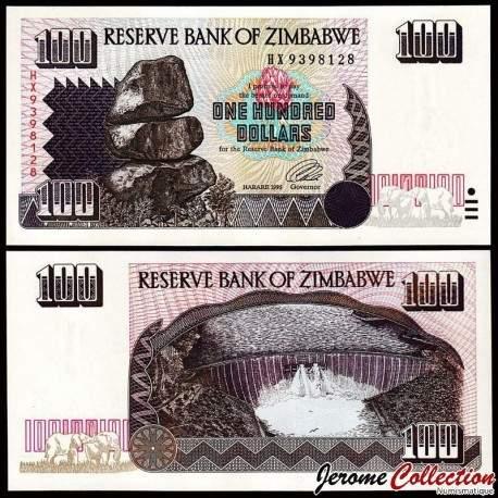 ZIMBABWE - Billet de 100 DOLLARS - 1995 P9a