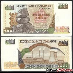 ZIMBABWE - Billet de 500 DOLLARS - 2001