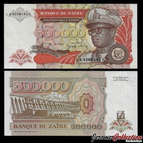 ZAIRE - Billet de 500000 Zaires - 15.3.1992 P43a