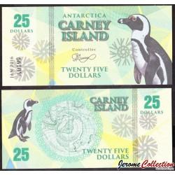 CARNEY ISLAND / ANTARCTIQUE - Billet de 25 DOLLARS - 2016 0025