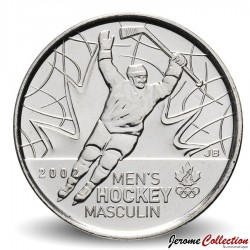CANADA - PIECE de 25 CENTS - Salt Lake City - Hockey masculin - 2009 Km#1063