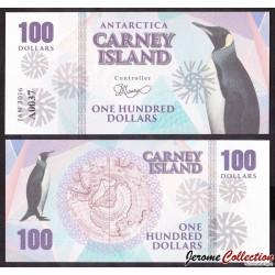 CARNEY ISLAND / ANTARCTIQUE - Billet de 100 DOLLARS - 2016 0100