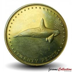 TRISTAN DA CUNHA - PIECE de 20 Pence - Orque - 2008 Km#32