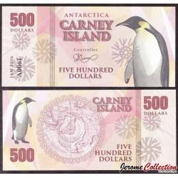 CARNEY ISLAND / ANTARCTIQUE - Billet de 500 DOLLARS - 2016