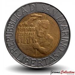SAINT-MARIN - PIECE de 500 Lires - Tailleur de pierre - 1994