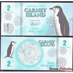 CARNEY ISLAND / ANTARCTIQUE - Billet de 2 DOLLARS - 2016