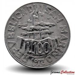 SAINT-MARIN - PIECE de 100 Lires - Agriculteur dans les champs - 1978