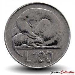 SAINT-MARIN - PIECE de 100 Lires - Chien et chat - 1975 Km#46
