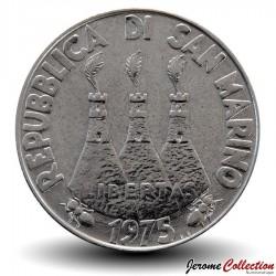 SAINT-MARIN - PIECE de 100 Lires - Chien et chat - 1975
