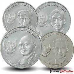 INDONESIE - SET / LOT de 4 PIECES de 100 200 500 1000 Rupiah - 2016 Km#71 72 73 74