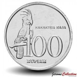INDONESIE - PIECE de 100 Rupiah - Un cacatoès noir - 1999 Km#61