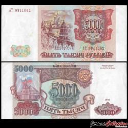 RUSSIE - Billet de 5000 Roubles - Douma / Kremlin - 1993 P258a