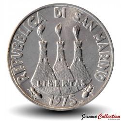 SAINT-MARIN - PIECE de 5 Lires - Hérissons - 1975
