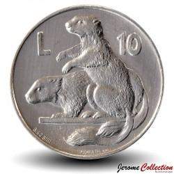 SAINT-MARIN - PIECE de 10 Lires - Marmottes - 1975