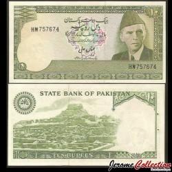PAKISTAN - Billet de 10 Roupies - Mohenjo-daro - 1976